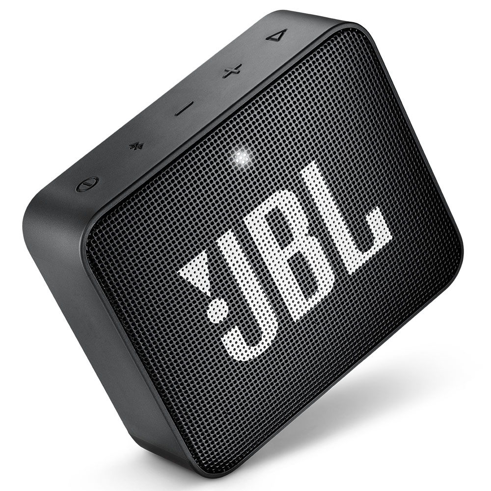 JBL GO 2 Midnight Black Portable Bluetooth Speaker & Handsfree + Line-in + Waterproof (Ηχείο & Ανοιχτή συνομιλία για κλήσεις)