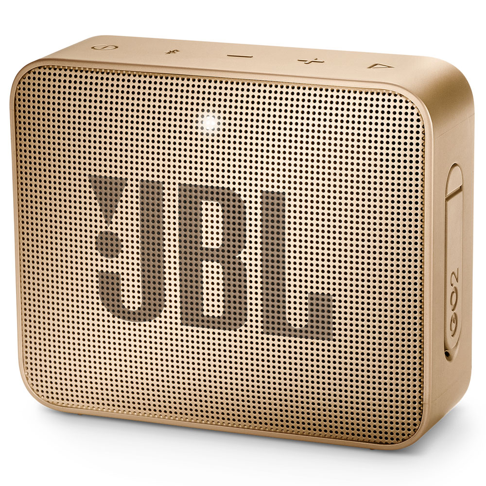 JBL GO 2 Champagne Portable Bluetooth Speaker & Handsfree + Line-in + Waterproof (Ηχείο & Ανοιχτή συνομιλία για κλήσεις)
