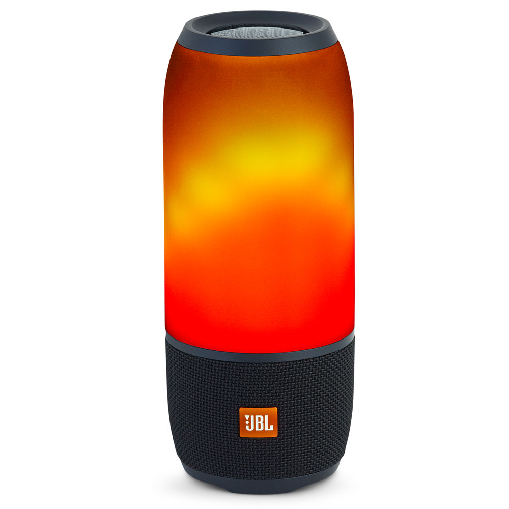 JBL Pulse 3 Black: Bluetooth Wireless Portable Speaker με LED Light Show (Ασύρματο ηχείο & Φωτορυθμικό με LED + Waterproof)
