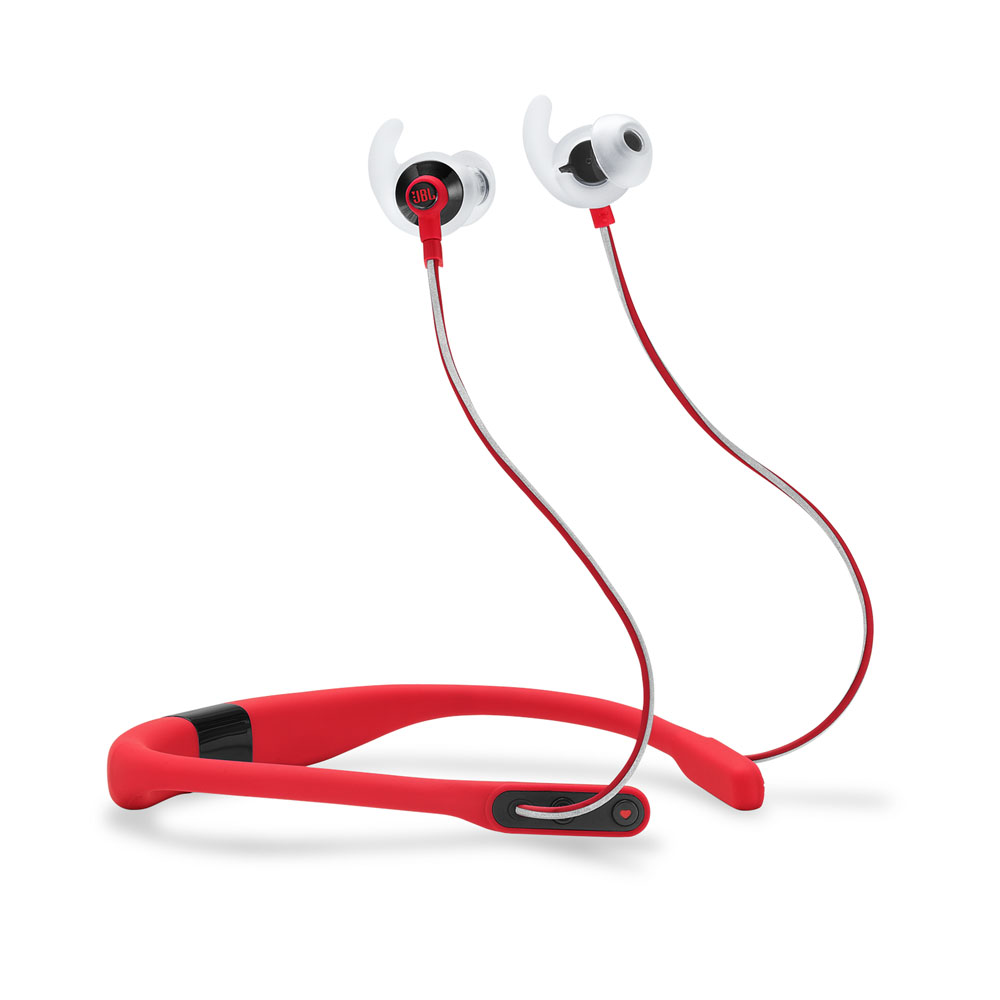 JBL Reflect Fit Red: Heart Rate Wireless Headphones + Secure Fit Ergonomics + Sweat Proof + Hands-free Calls & Vibration