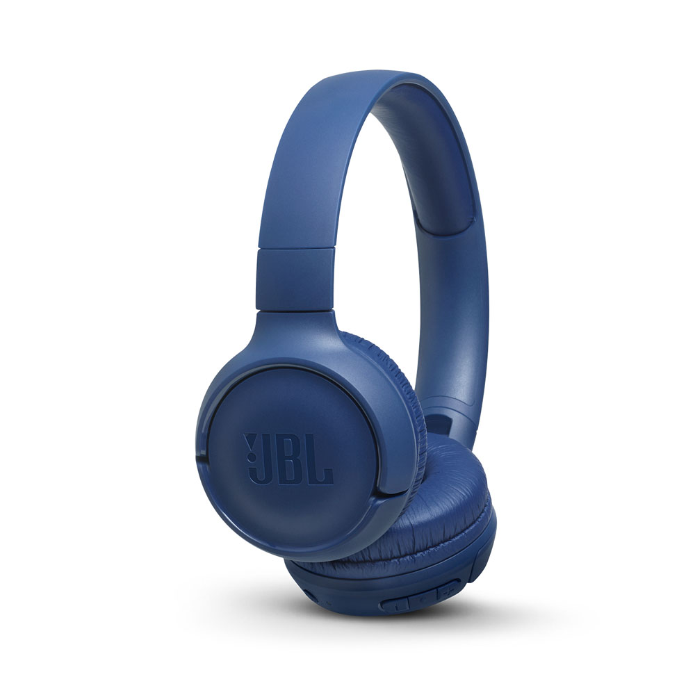 JBL Tune 500BT Blue Wireless On-Ear Headphones + Pure Bass Sound + Mic/Remote (κλήσεις & μουσική χωρίς καλώδια)