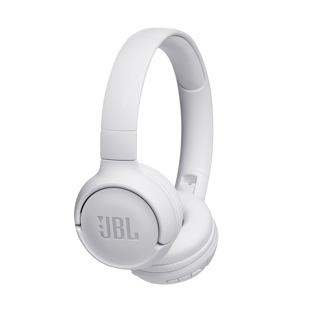 JBL Tune 500BT White Wireless On-Ear Headphones + Pure Bass Sound + Mic/Remote (κλήσεις & μουσική χωρίς καλώδια)