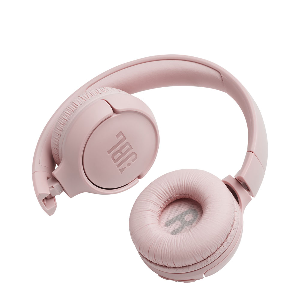 JBL Tune 500BT Pink Wireless On-Ear Headphones + Pure Bass Sound + Mic/Remote (κλήσεις & μουσική χωρίς καλώδια)