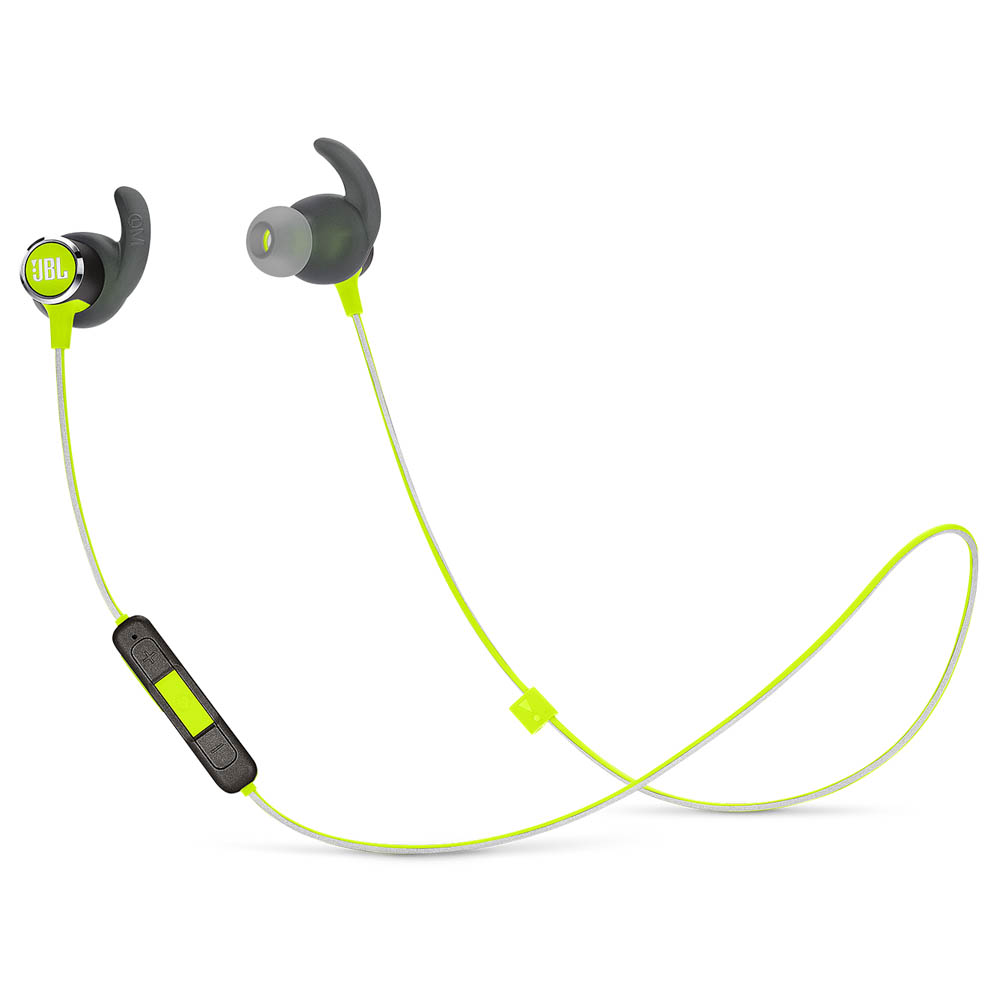 JBL Reflect Mini 2 Lime: Lightweight & Sweat Proof Wireless Sport Headphones + JBL Signature Sound