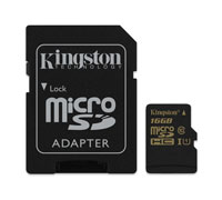 Kingston High-Speed microSDHC/SDXC 16GB Class 10 UHS-I (U1) SDCA10/16GB