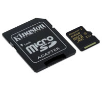 Kingston High-Speed microSDHC/SDXC 64GB Class 10 UHS-I (U1) SDCA10/64GB