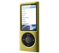 SwitchEasy Cubes Silicone Case & Protectors for Apple iPod Nano 5G Gold