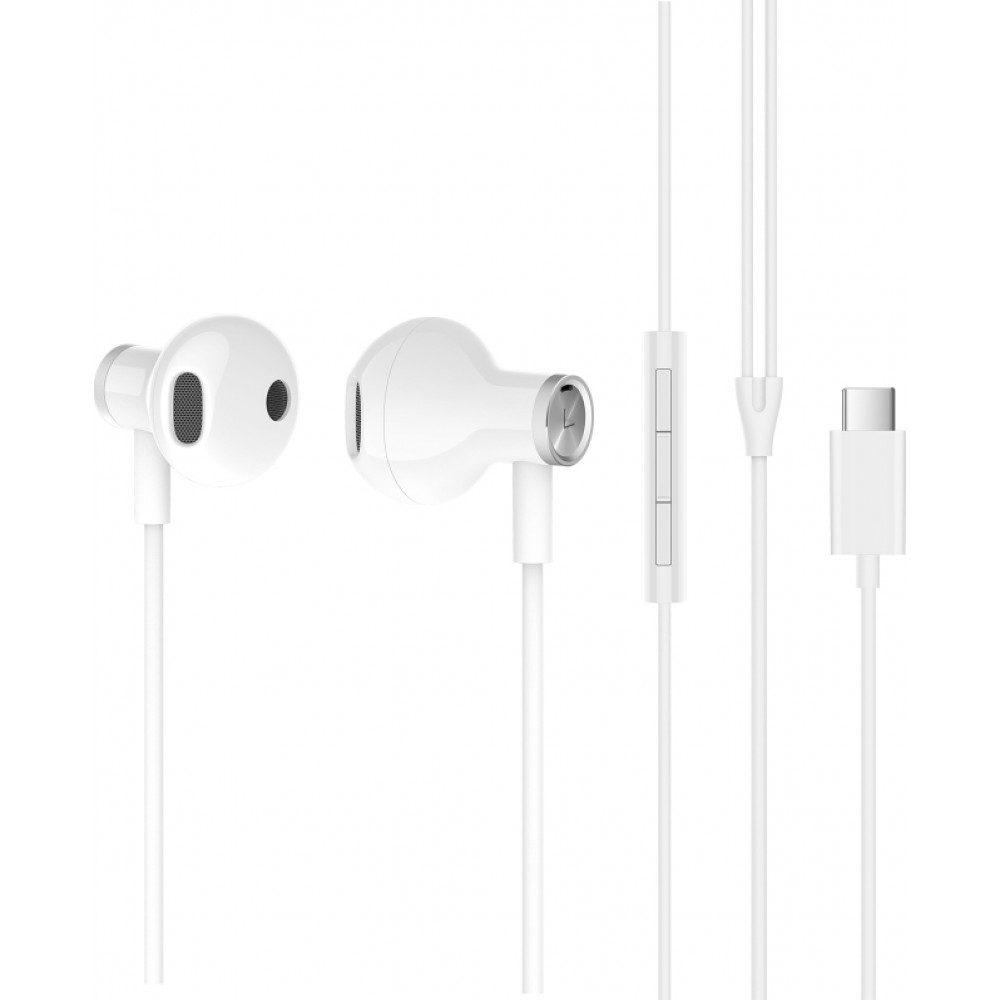 Xiaomi Mi Dual Driver Half In-Ear Earphones Type-C White (Hi-Res Audio)