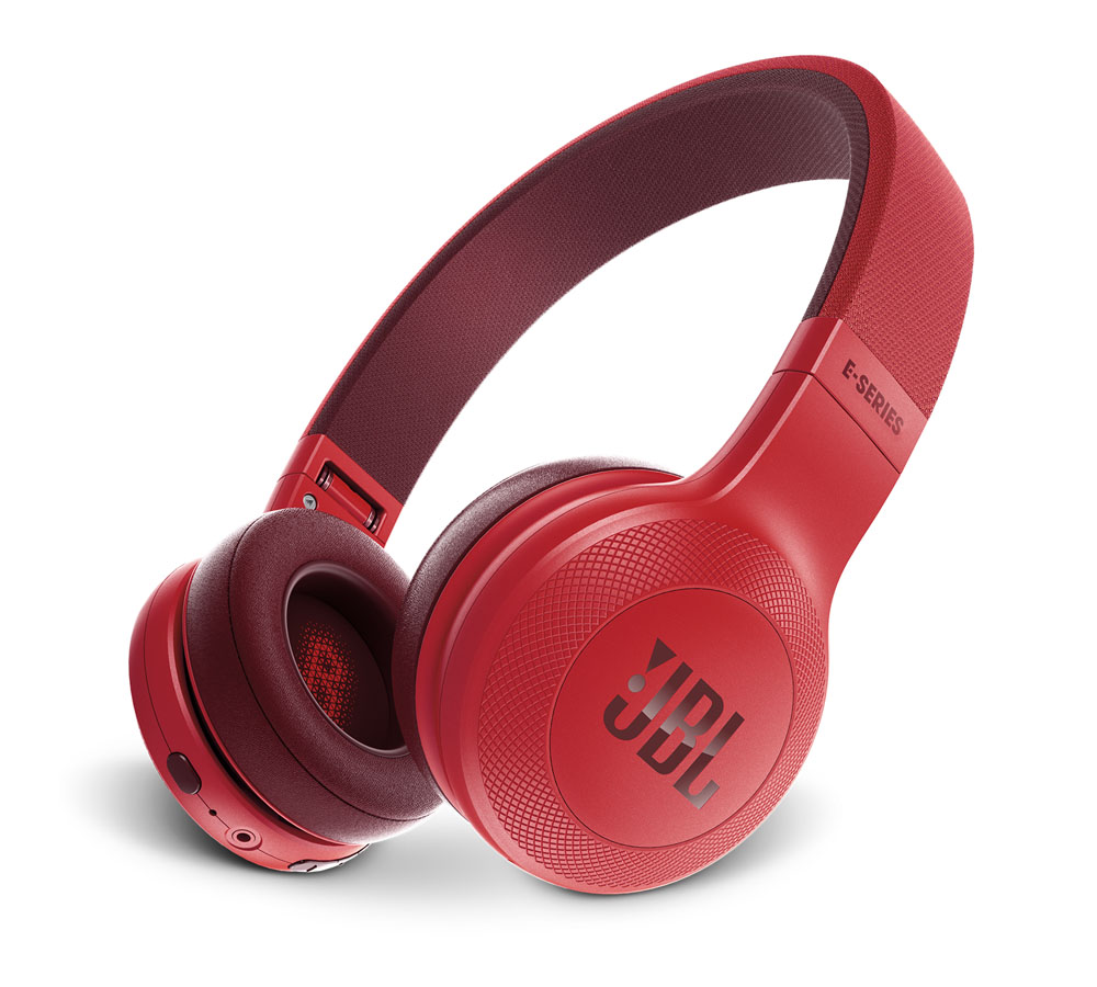 JBL E45BT Red On-Ear Bluetooth Headphones + Signature Sound + Mic/Remote + 40mm Driver + Αυτονομία 16 ωρών