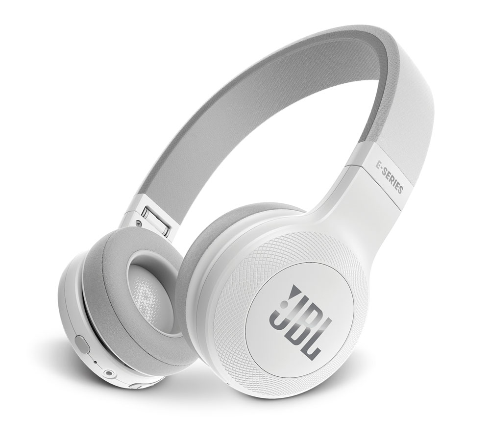 JBL E45BT White On-Ear Bluetooth Headphones + Signature Sound + Mic/Remote + 40mm Driver + Αυτονομία 16 ωρών