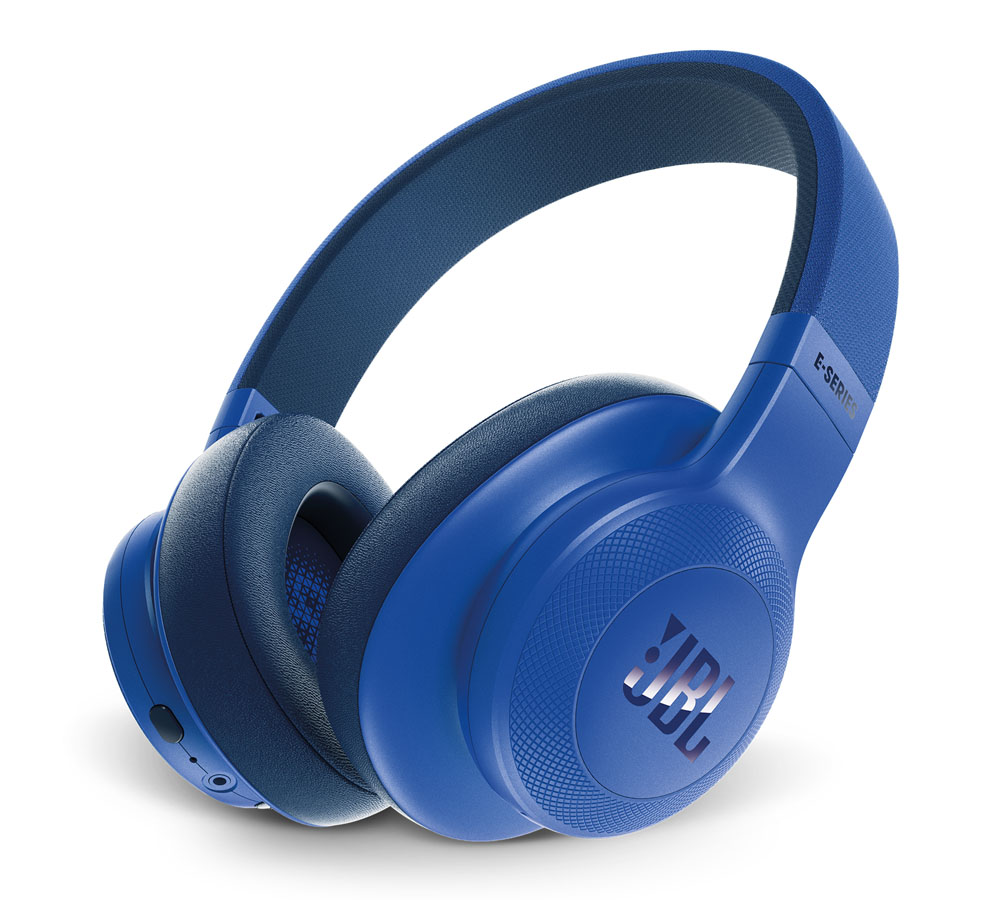 JBL E55BT Blue On-Ear Bluetooth Headphones + Signature Sound + Mic/Remote + 50mm Driver + Αυτονομία 20 ωρών