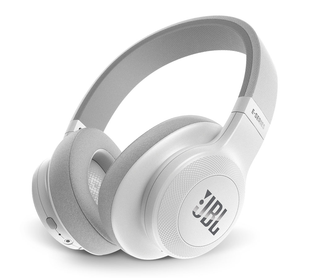 JBL E55BT White On-Ear Bluetooth Headphones + Signature Sound + Mic/Remote + 50mm Driver + Αυτονομία 20 ωρών