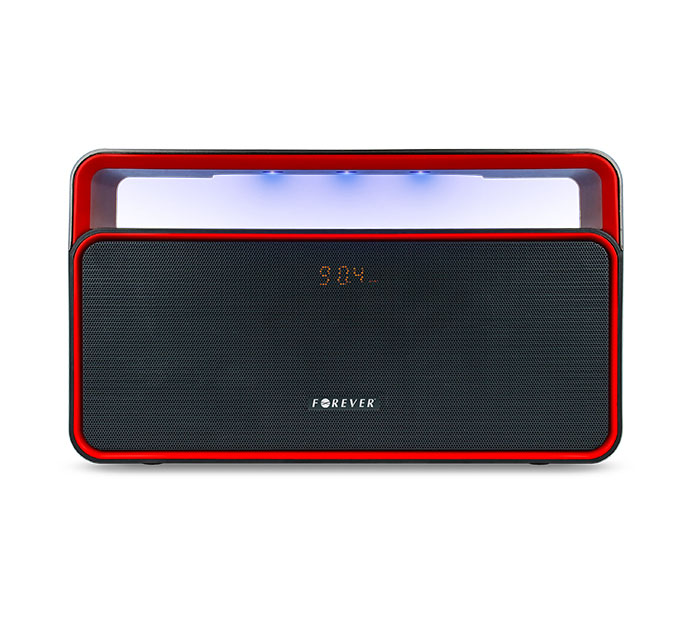 Forever BS-600 Black/Red Bluetooth Speaker + Speakerphone + microSD Slot + USB Stick + Line-in + FM Radio