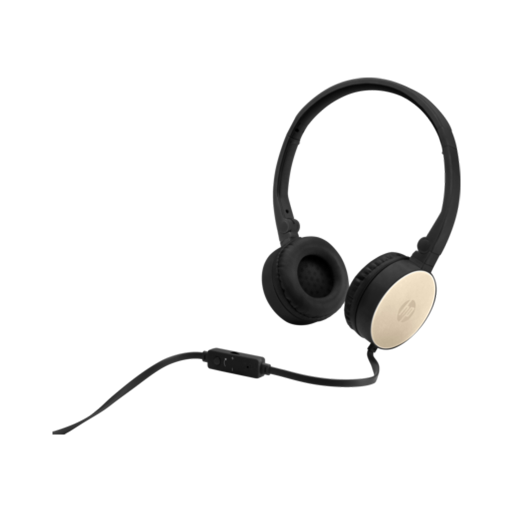 HP H2800 Black w. Silk Gold On-Ear Stereo Headphones 2AP94AA (κλήσεις & μουσική με Remote + Volume Control)