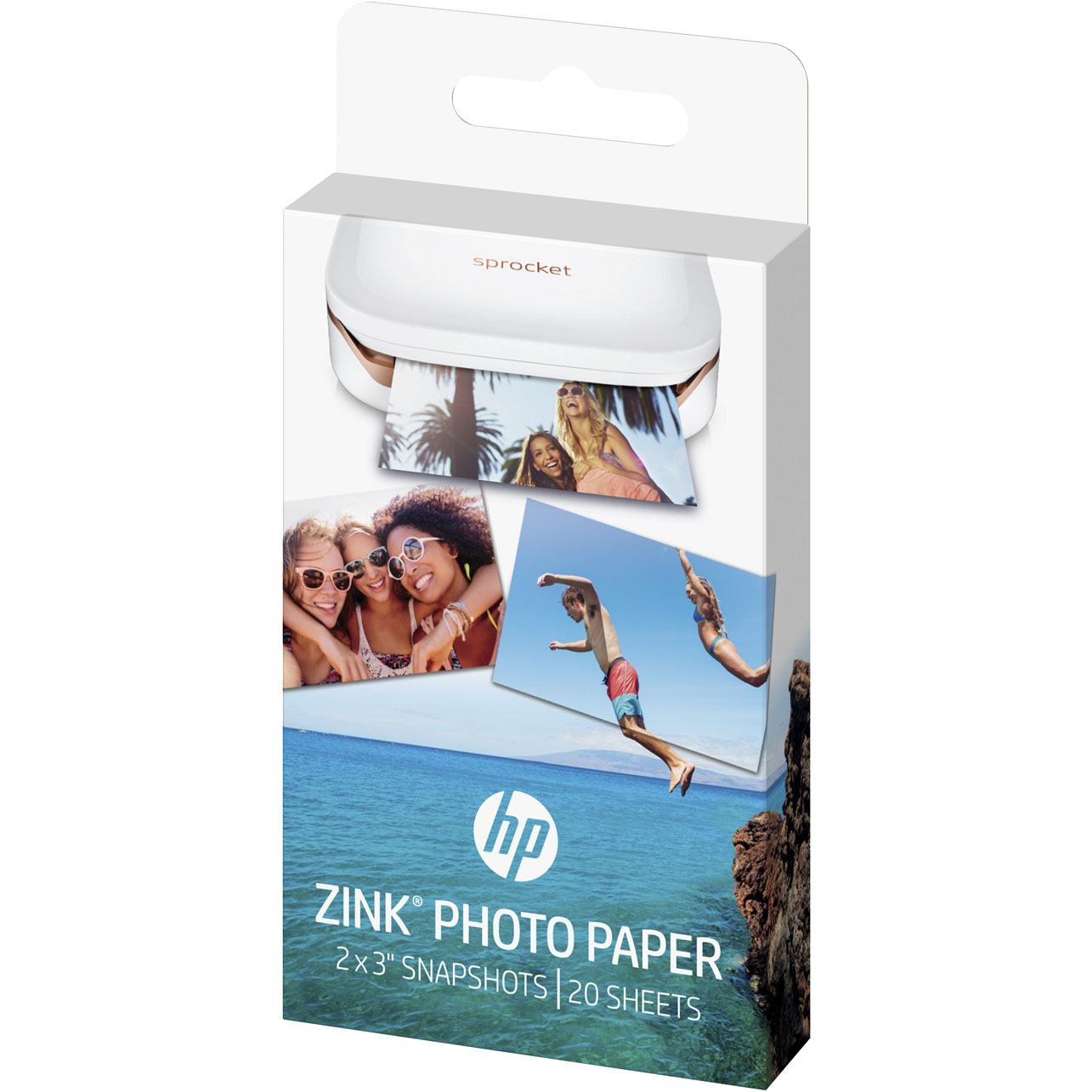 "HP Sprocket Zink Photo Paper 2 x 3"" 20 Pack 