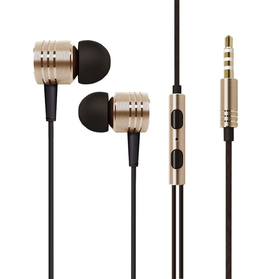 1More Piston Classic Silk Gold In-ear Headphones (iF Product Design Award)