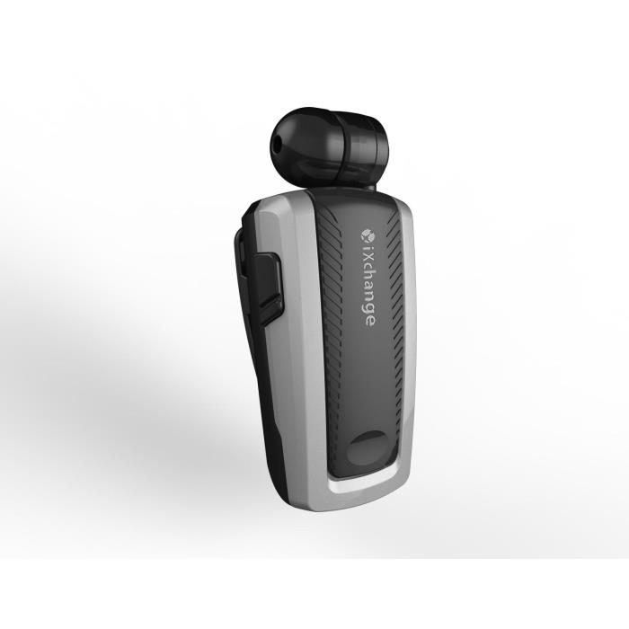 iXchange UA-25XB-N Silver Mini Retractable Bluetooth Headset + Multipoint