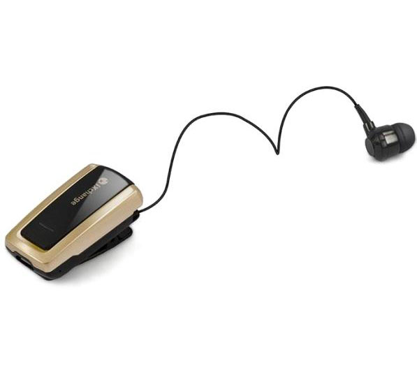 iXchange UA-28SE-V Gold Stereo Retractable Bluetooth Headset + Multipoint + Δόνηση + Power Display