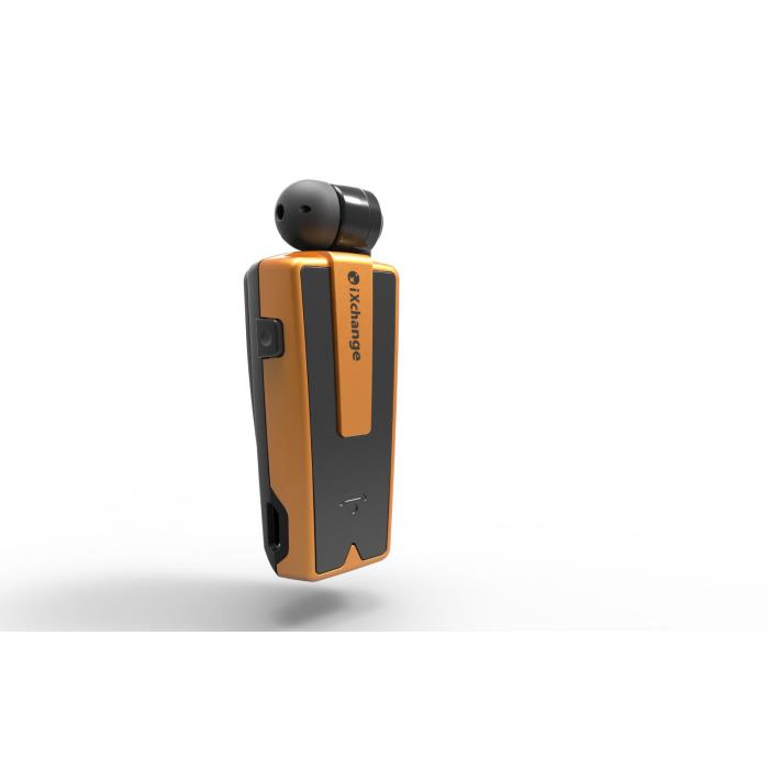 iXchange UA-33ST-B Orange Beeper Retractable Bluetooth Headset + Multipoint + Beeper + Anti-Lost Alert