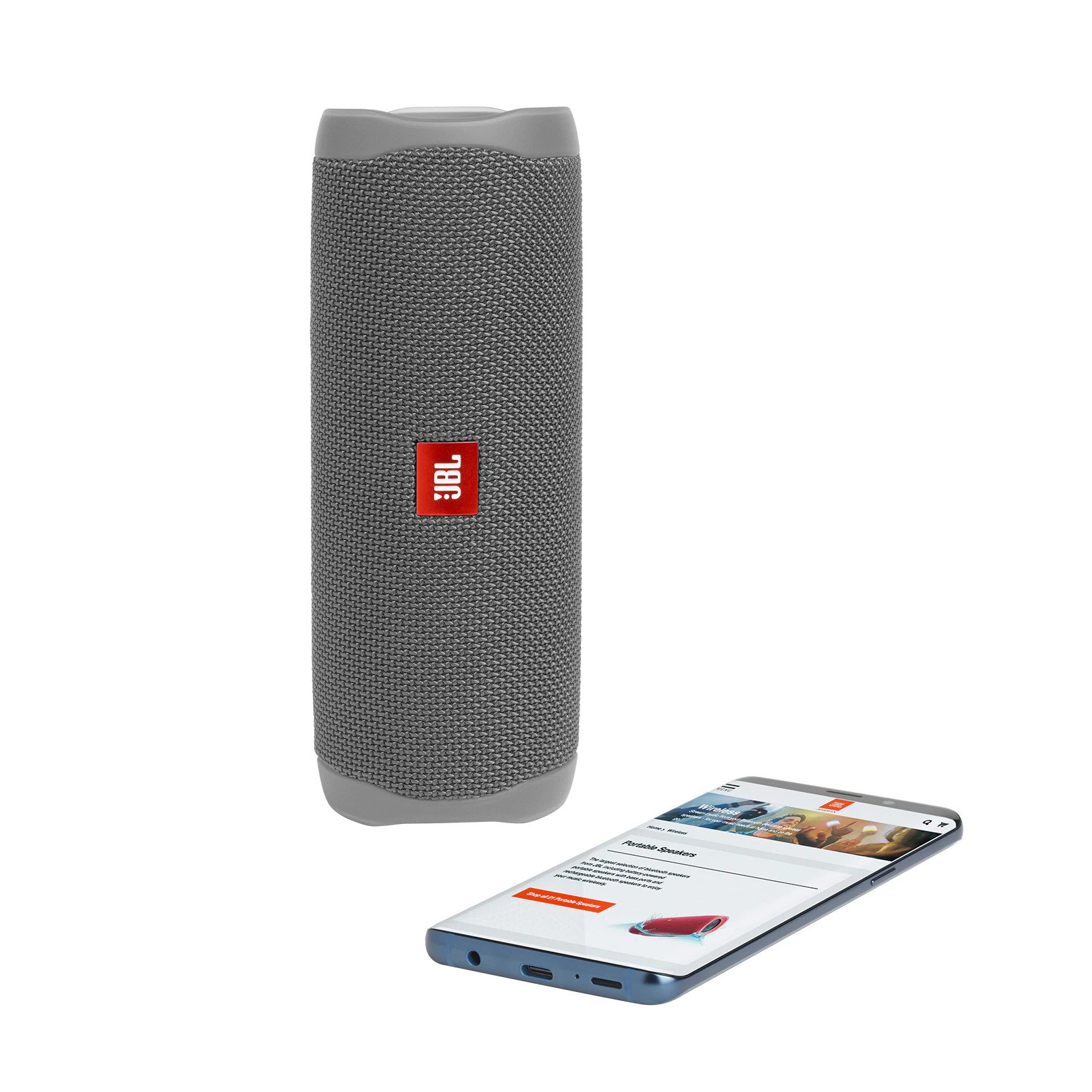 JBL Flip 5 Grey Portable Bluetooth Speaker (PartyBoost + IPX7 Waterproof)