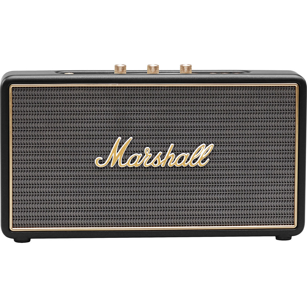 Marshall Stockwell Portable Bluetooth Speaker: Bluetooth + Line-In + Speakerphone + 27W RMS + Power Bank