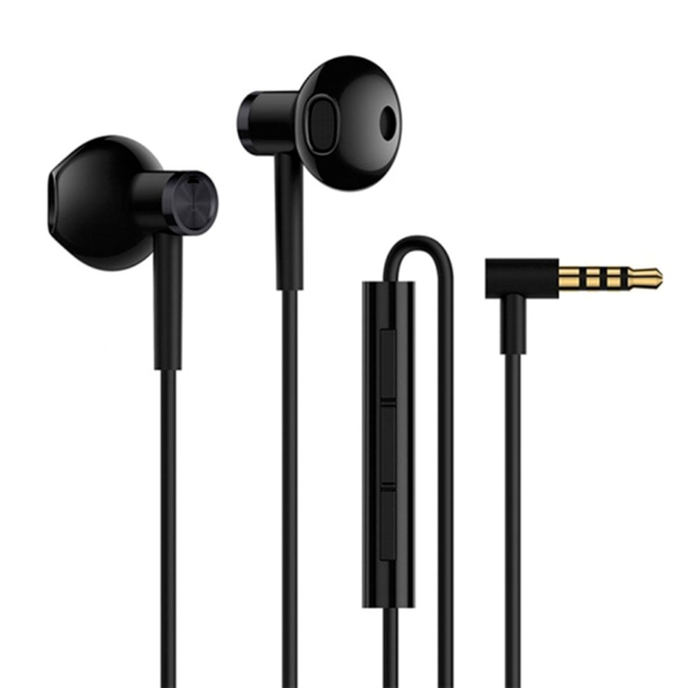 Xiaomi Mi Dual Driver Half In-Ear Earphones Black (Hi-Res Audio)