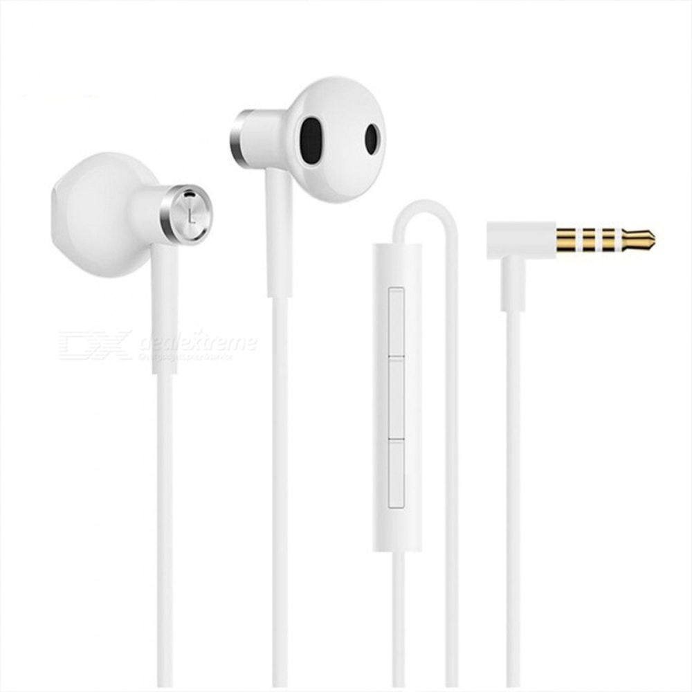 Xiaomi Mi Dual Driver Half In-Ear Earphones White (Hi-Res Audio)