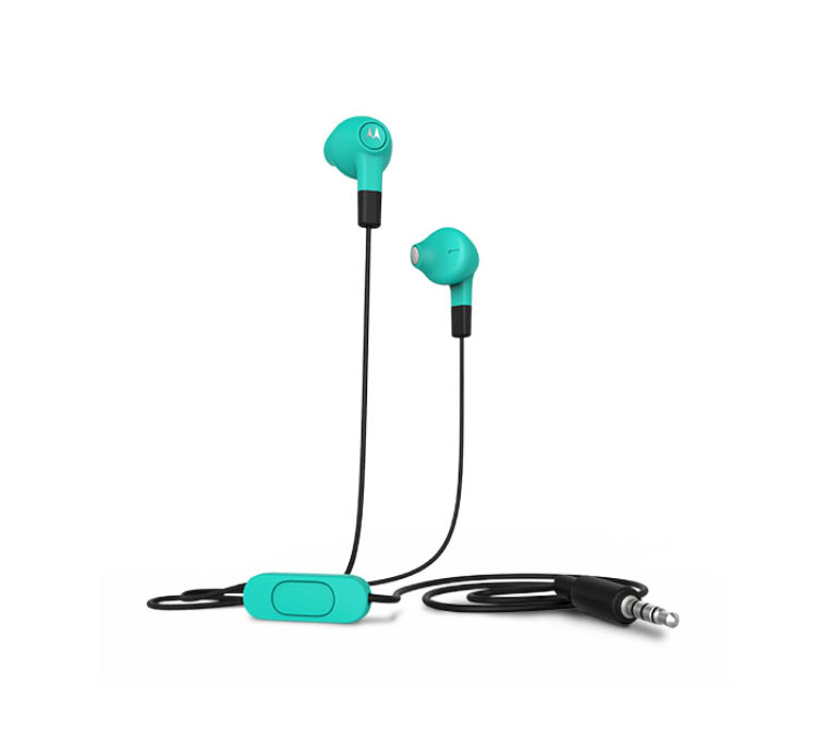 Motorola Hybrid In-Ear/Buds Turquoise Headset & Hands-Free + Music & Call Control
