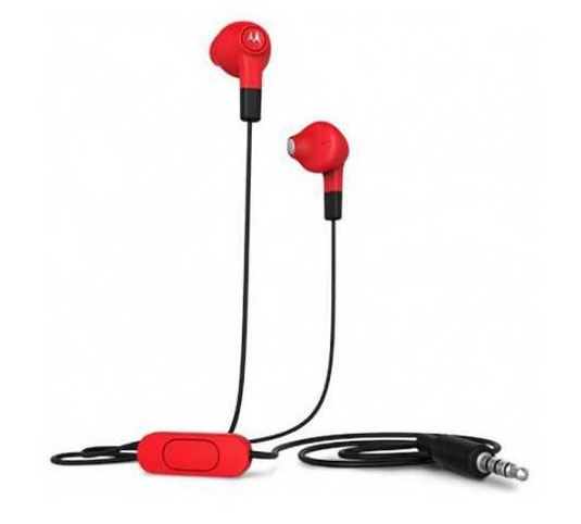 Motorola Hybrid In-Ear/Buds Cherry Red Headset & Hands-Free + Music & Call Control