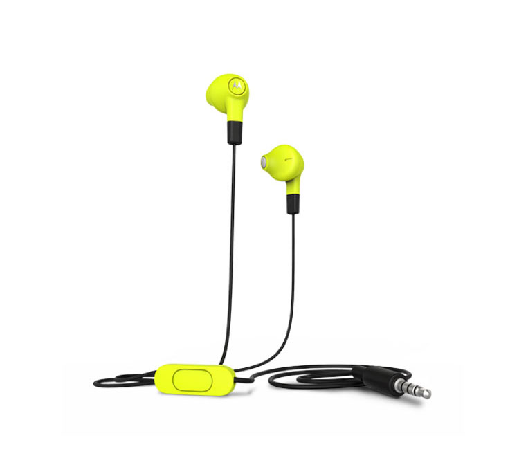 Motorola Hybrid In-Ear/Buds Lemon-Lime Headset & Hands-Free + Music & Call Control