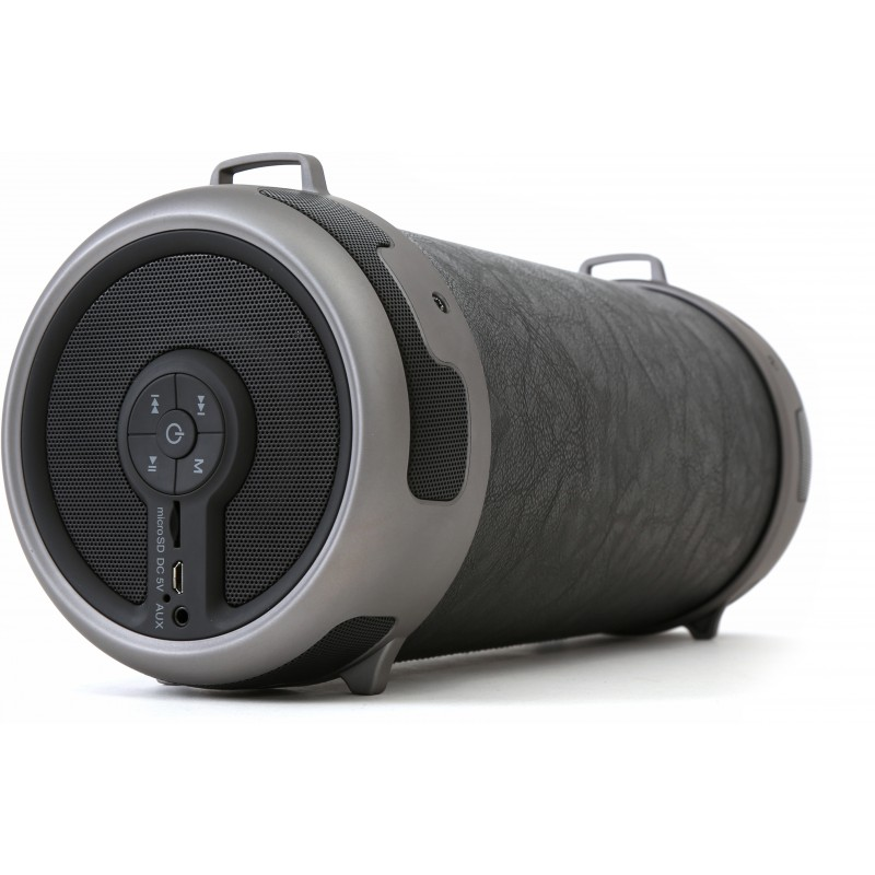 Omega Nitro (OG090) Outdoor Bluetooth 2.1 Speaker: Bluetooth + Line-in + microSD + FM Radio + Subwoofer + Luxury Leather Design