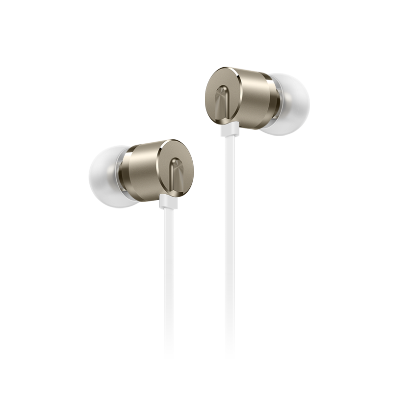 OnePlus Bullets (V2) White: In-Ear Stereo Headset & Hands-Free + 3-Button Remote (κλήσεις & μουσική)