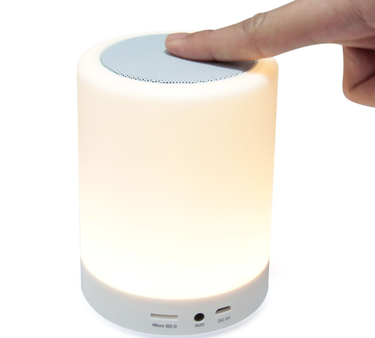 Platinet PDLSB01 LED Lamp & Speaker: Bluetooth Speaker & Handsfree + Line-In + microSD + LED Lamp & Light Show + Touch Control