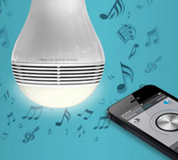 Conceptronic Smart Wireless Bluetooth Light Bulb Speaker (Multi-Color LED Λαμπτήρας + Bluetooth Ηχείο!)