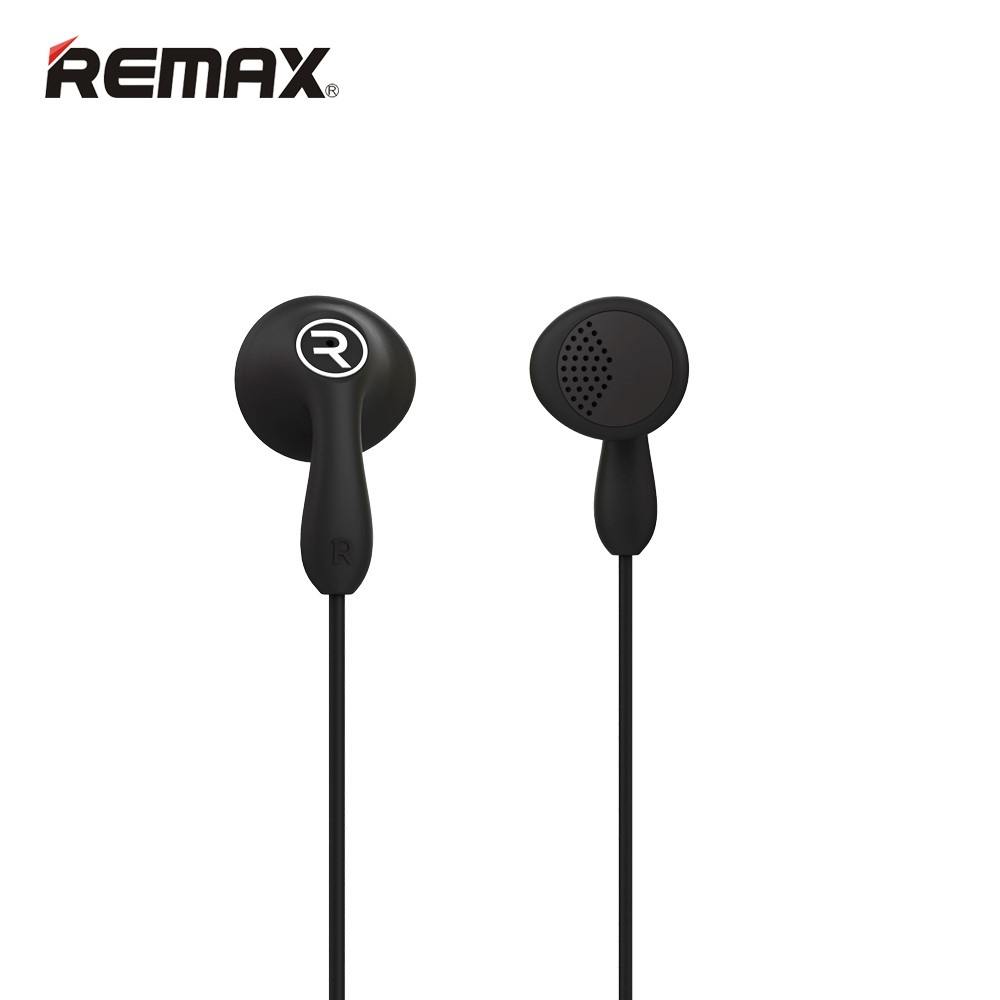 Remax RM-301 Candy Black: Wired Earbuds Headset για Κλήσεις & Μουσική (Android / Windows / iOS)