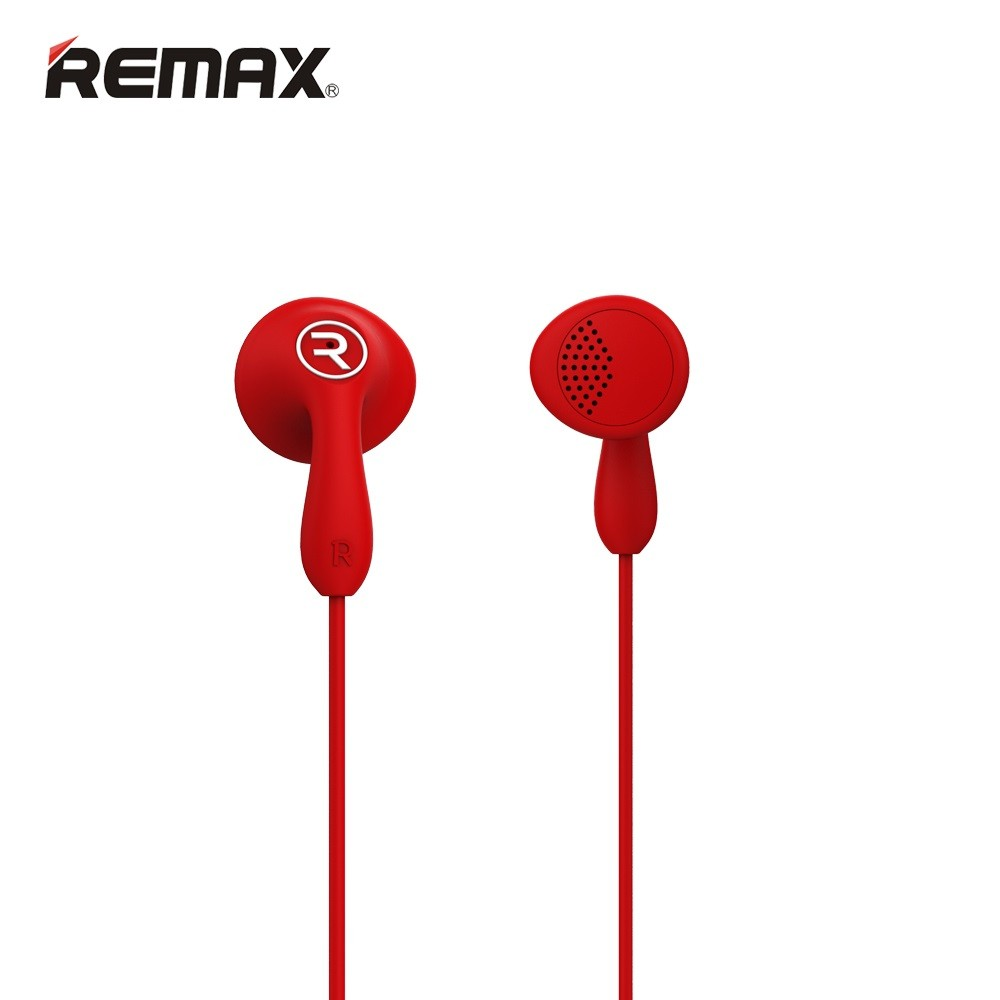 Remax RM-301 Candy Red: Wired Earbuds Headset για Κλήσεις & Μουσική (Android / Windows / iOS)