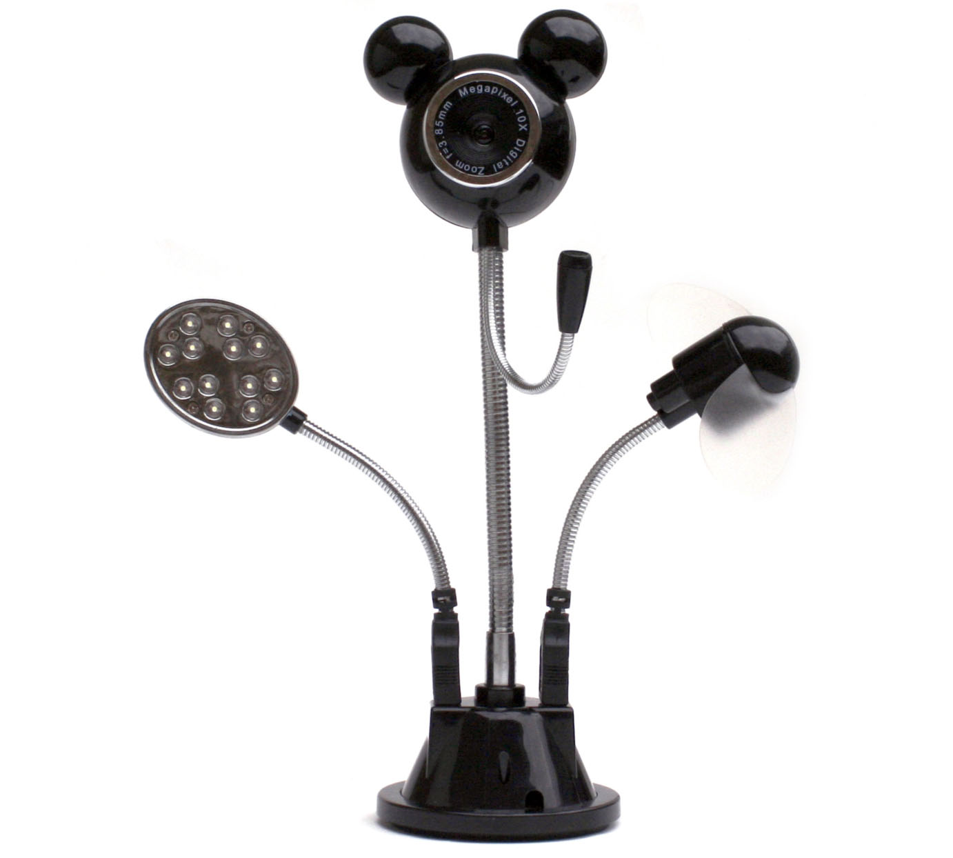 "Satzuma UWM300 ""You Have It All"" USB All-in-One Webcam: Camera with Microphone + Led Light + Fan (n2912)"