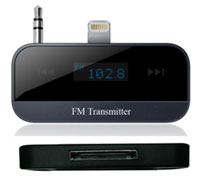 iPDA FM-IP Black FM Stereo Transmitter & In-car Handsfree για Apple iPhone 5, 5c, 5s