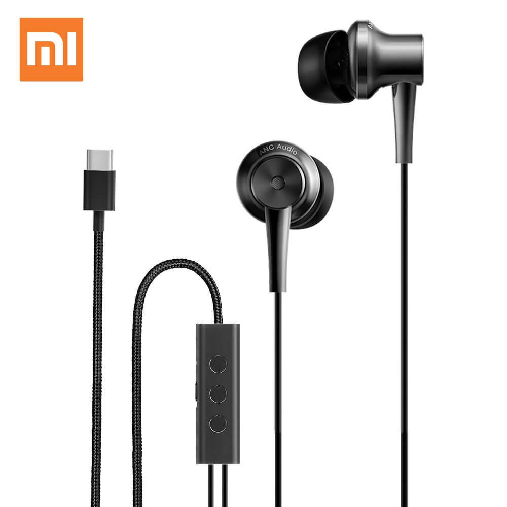 Xiaomi Mi Noise Cancelling Earphones Type-C Version Black (Με σύστημα μείωσης θορύβου)