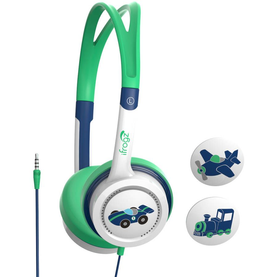 iFrogz by ZAGG Little Rockerz Headphones Planes/Train/Car: Kid-Friendly Volume Limiting Headphones