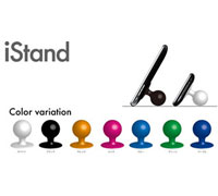iStand Joystick-Like Silicone Sucker Stand Black