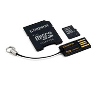 Kingston microSDHC 32GB Class 10 Multi Mobility Kit MBLY10G2/32GB (3-in-1: κάρτα μνήμης microSD + SD + USB Stick)