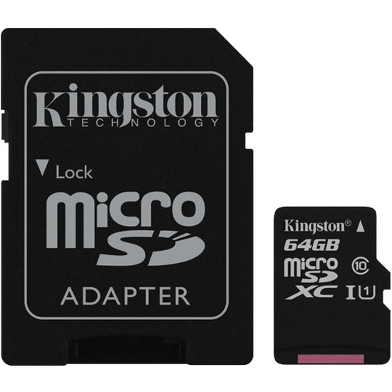 Kingston Canvas Select Class 10 microSDHC/SDXC 64GB UHS-I Speed Class 1 (U1) SDCS/64GB