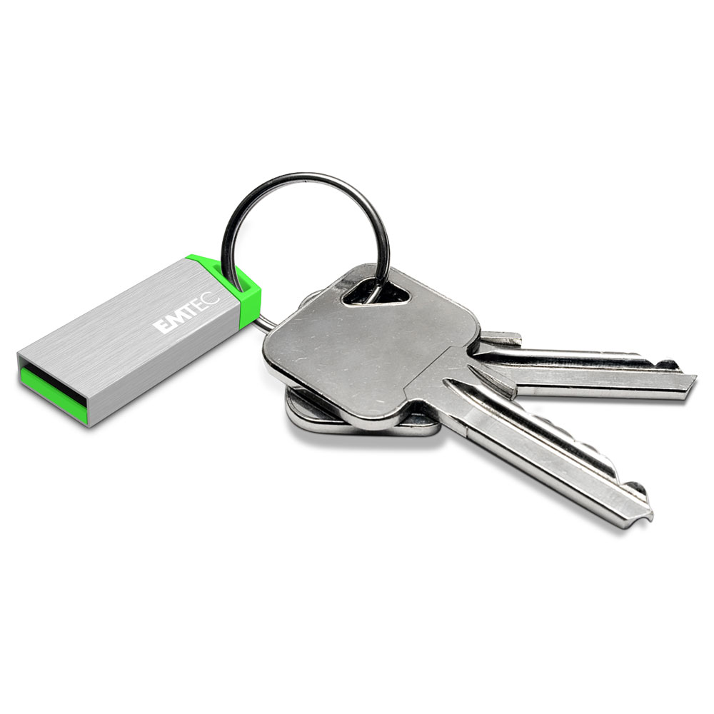 Emtec S210 miniMetallic USB 2.0 Flash Drive 8GB | Κατασκευή από Αλουμίνιο + Key Hole