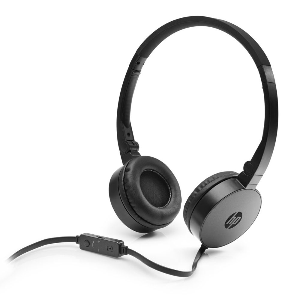HP H2800 Black On-Ear Stereo Headphones J8F10AA (κλήσεις & μουσική με Remote + Volume Control)