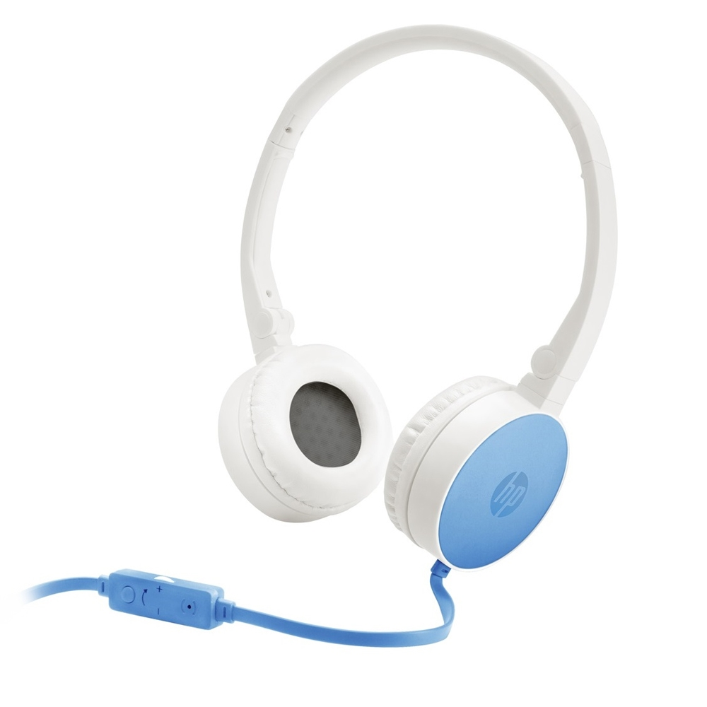HP H2800 Blue On-Ear Stereo Headphones J9C30AA (κλήσεις & μουσική με Remote + Volume Control)