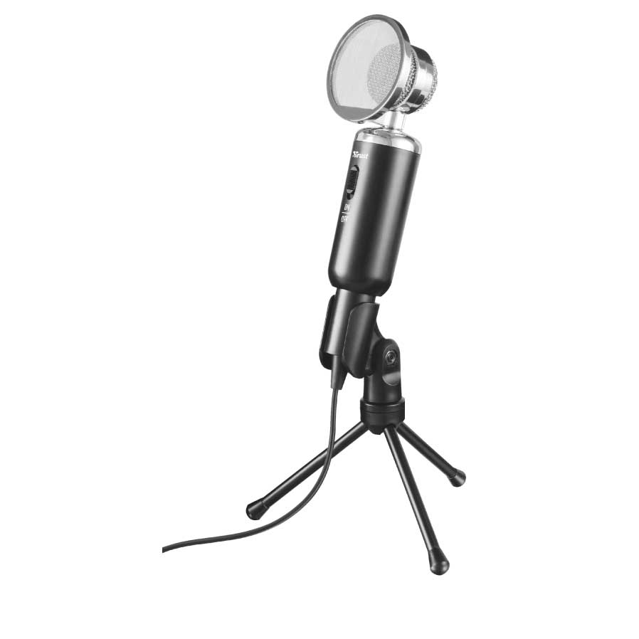 Trust 21672 Madell Vintage-Style Desk Microphone + Mute Switch