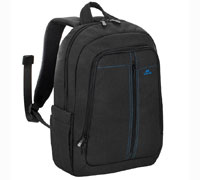 "Rivacase 7560 Black Laptop Canvas Backpack (για Laptop έως και 15.6"" + Tablet έως και 10.1"")"