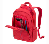 "Rivacase 7560 Red Laptop Canvas Backpack (για Laptop έως και 15.6"" + Tablet έως και 10.1"")"