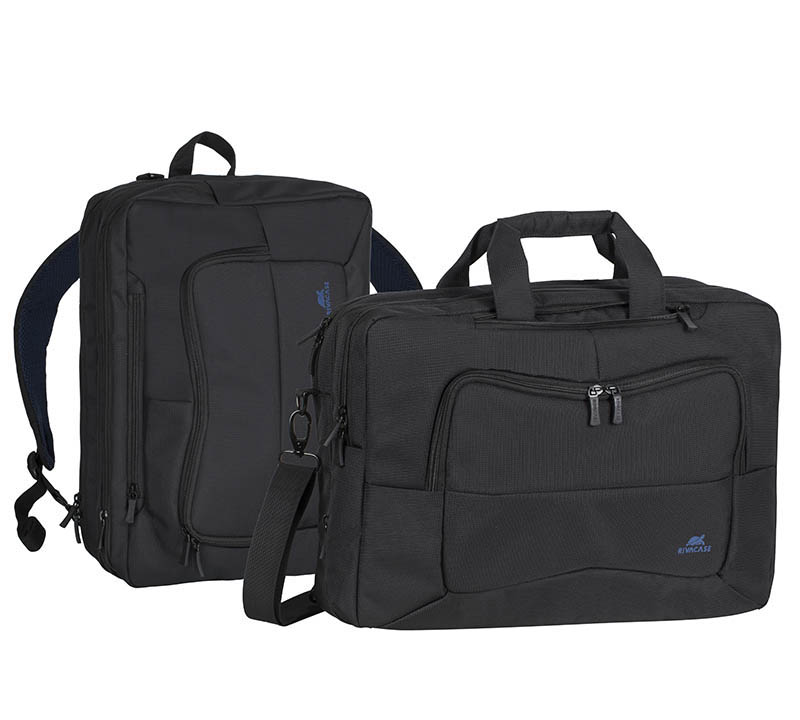 "Rivacase 8490 Black Transformer Laptop Bag/Backpack (2-σε-1 Πλάτης & Χειρός για Laptop έως και 16"")"